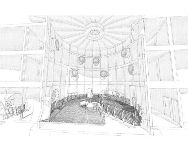 Beef Jerky – Innenausbau-Konzept von UFO-Hotel