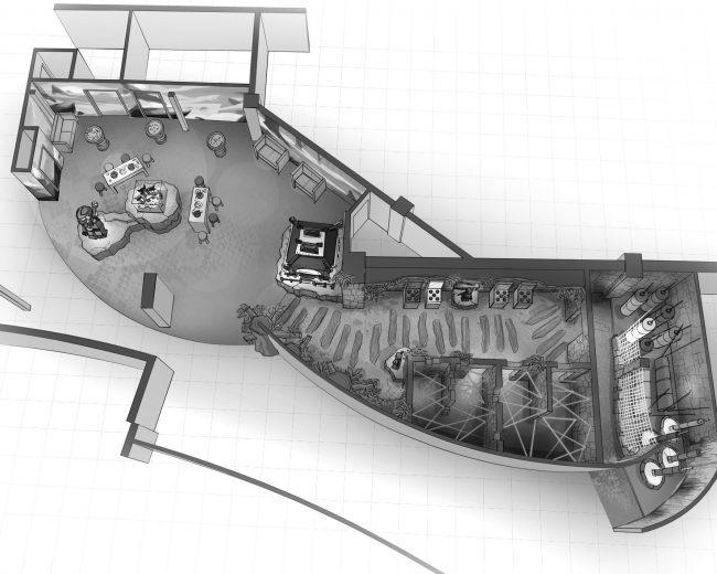 Innenraumplanung für das Legoland Berlin