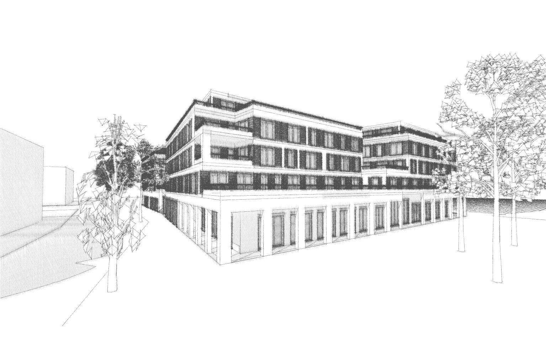 Neubau eines Wohn- und Geschäftgebäudes