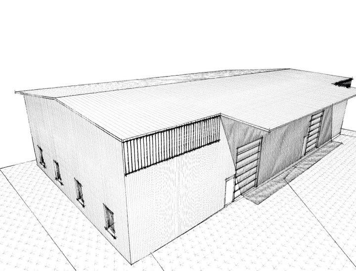 Neubau einer 1-2 geschossigen Gewerbehalle